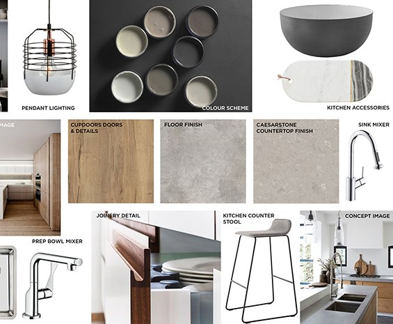 How It Works - We Design a Mood Board of Your Space